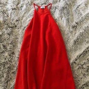 Zara Bright Red Backless Dress